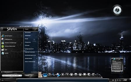 Windows 7 theme red line (glass) by customizewin7 on deviantart.