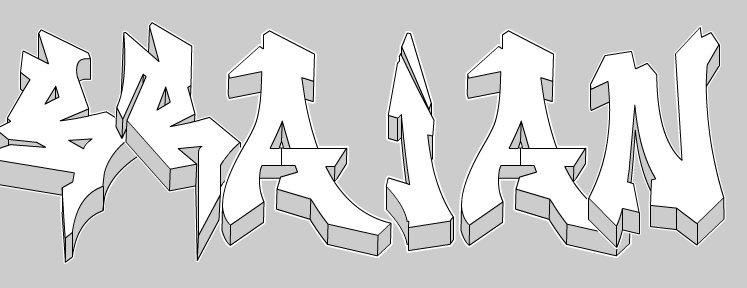 Como Dibujar un Graffiti en Wildstyle+Graffiti creador..